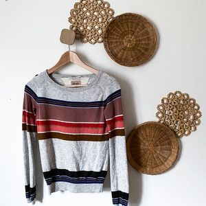 Wilfred Free gray and colored stripe sweater XS